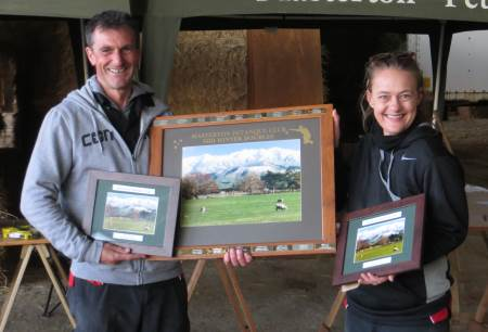 Masterton Midwinter Doubles winners Dez Grant and Sara-Jane Wright